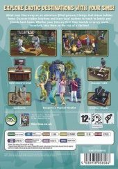 The Sims 2: Bon Voyage PAL (Europe) back cover box shot