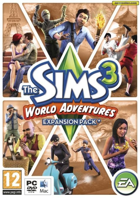 the sims 3 world adventures pc front cover. Black Bedroom Furniture Sets. Home Design Ideas