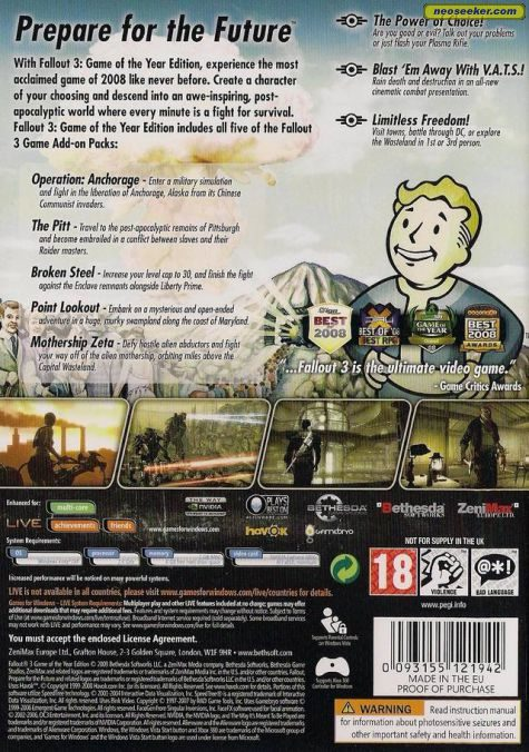 Fallout 3 Game of the Year Edition - DISC 2 - YouTube