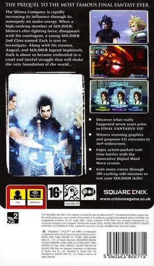 Crisis Core: Final Fantasy VII - PSP - PAL (Europe)