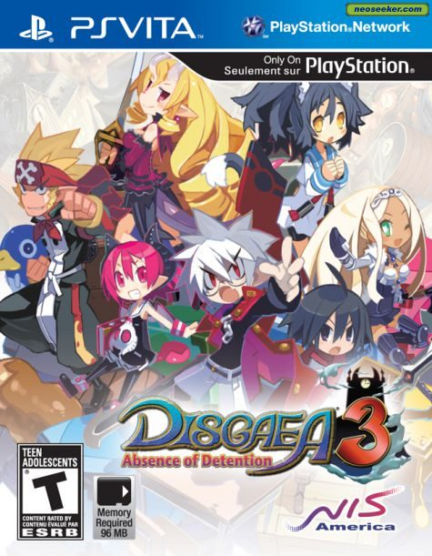 Disgaea 3: Absence of Detention - vita - NTSC-U (North America)