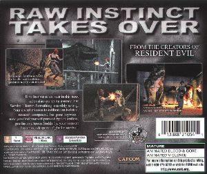 Dino Crisis PSX Back cover