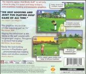 Hot Shots Golf NTSC-U (North America) back cover box shot