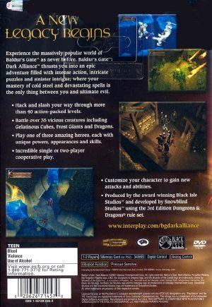Baldur's Gate: Dark Alliance 2 - PS2 - NTSC-U (North America)