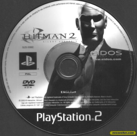Hitman 2 Silent Assassin Ps2 Media Cover