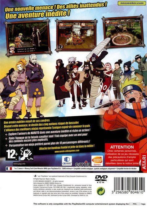 7427a68df92 Naruto: Uzumaki Chronicles 2 PS2 Back cover