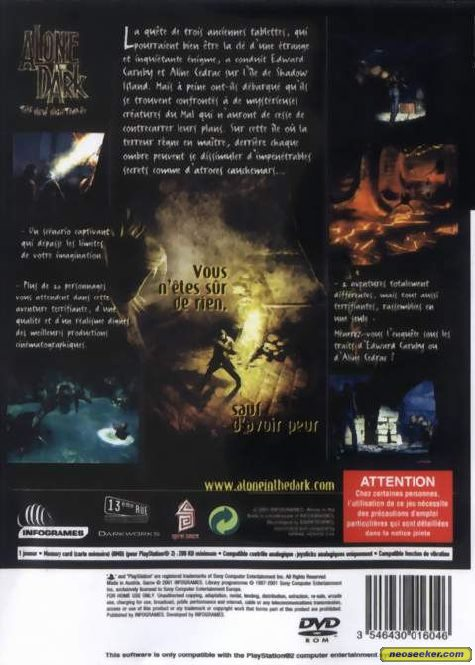 Alone in the Dark: The New Nightmare - PS2 - PAL (Europe)