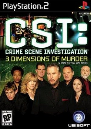 CSI: 3 Dimensions of Murder - PS2 - NTSC-U (North America)