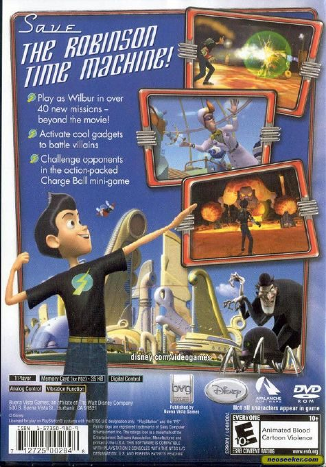 Disneys Meet the Robinsons PS2 Back cover