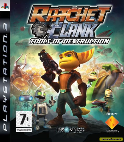 Ratchet Clank Future Tools Of Destruction Ps3 Front Cover