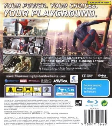 The Amazing Spiderman 3ds Cheats