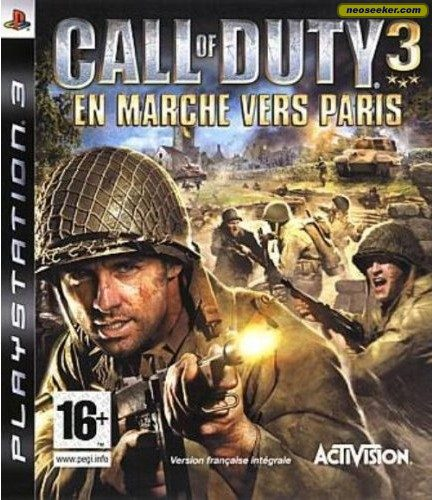 call of duty 3 cover. Call of Duty 3 - Front cover
