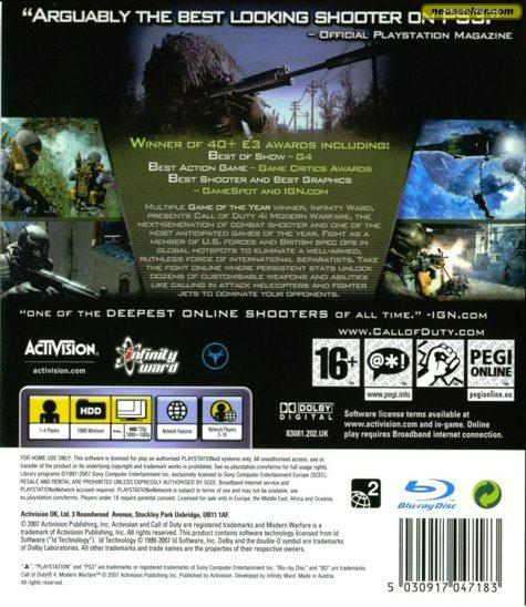 Call of Duty 4: Modern Warfare - PS3 - PAL (Europe)