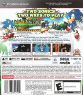 Sonic Generations NTSC-U (North America) back cover box shot