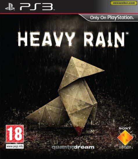 Heavy Rain PS3 Front cover