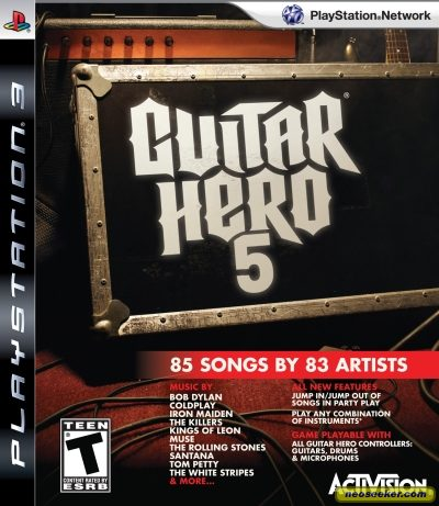 Guitar Hero 5 Cover. Guitar Hero 5 - Front cover