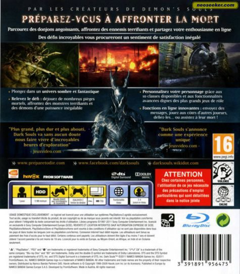 dark souls ps3 back cover