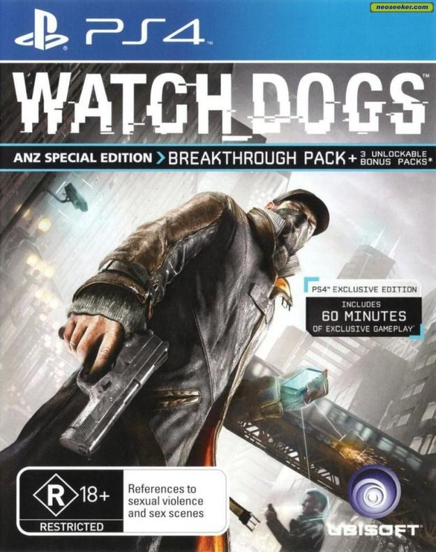 Watch Dogs PS4 Front cover Watch Dogs Ps4 Box Art