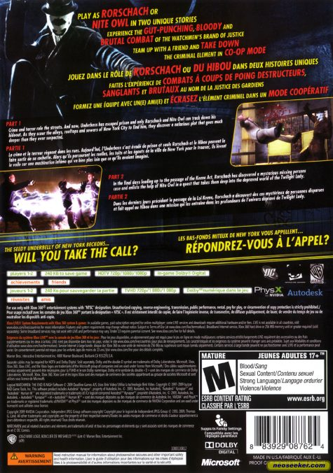 Watchmen: The End Is Nigh - XBOX360 - NTSC-U (North America)