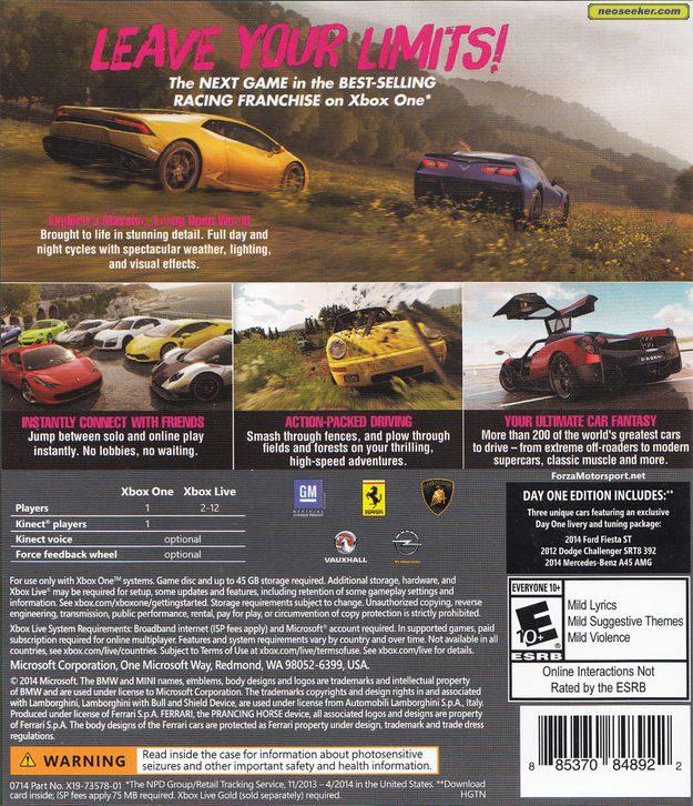 Forza Horizon 2 Boxshots