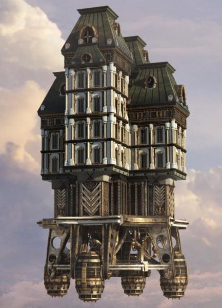 Bioshock infinite concept art for Final fantasy 8 architecture