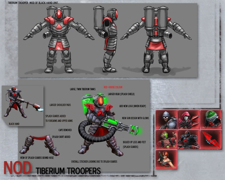 The Tiberium Trooper - Nod Marked of Kane sub-faction - Command & Conquer 3