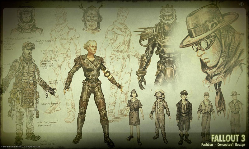 Fallout 4 Character Design Tutorial : Fallout concept art