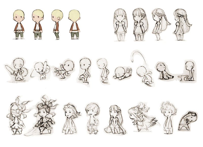 Fantasy Character Design Sheet : Final fantasy the heroes of light concept art