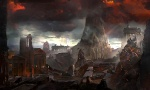 Destroyed City - God of War III Concept art