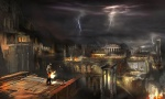 Hermes Run City View - God of War III Concept art