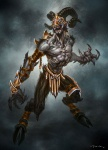 Armored Satyr - God of War III Concept art