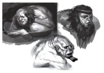 Hephaestus Face - God of War III Concept art