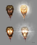 Helios Head - God of War III Concept art