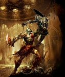 Kratos Vs Olympus Sentry - God of War III Concept art