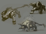 Cerberus Concept - God of War III Concept art