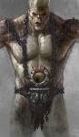 Cronos Torso - God of War III Concept art