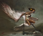 Harpy (Censored) - God of War III Concept art