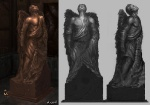 Icarus Statue - God of War III Concept art