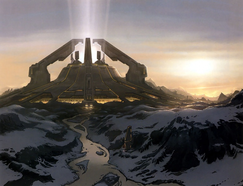 Halo 2 concept art for Delta v architecture