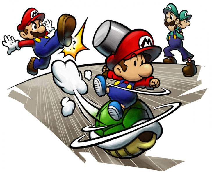 Mario Luigi Partners In Time Concept Art