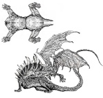 Gaping Dragon Sketches - Dark Souls Concept art