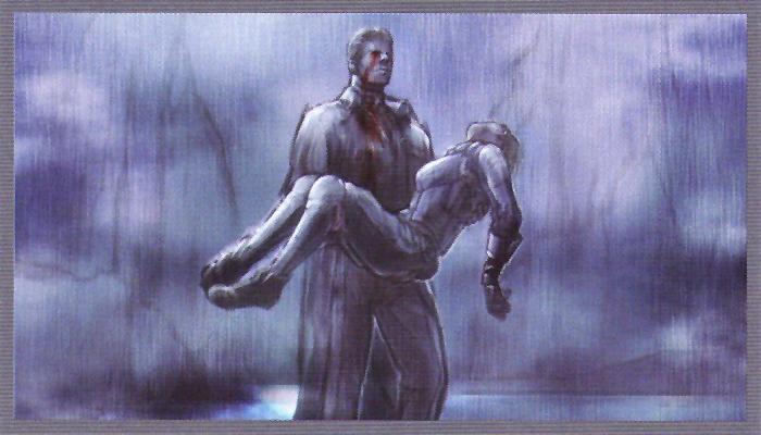 Wesker stabbed flashback