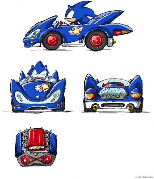 Sonic & SEGA All-Stars Racing Concept Art