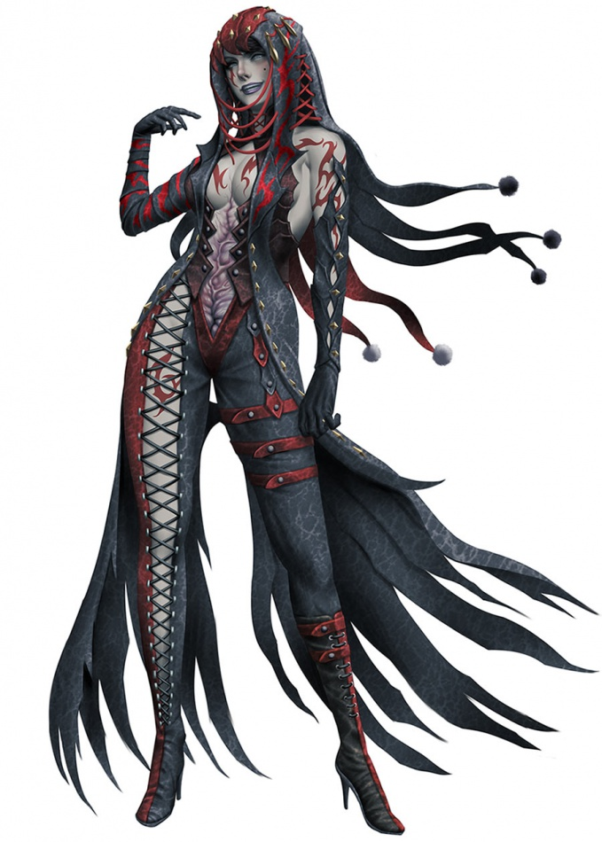 Anime Jester Characters : Soul sacrifice concept art