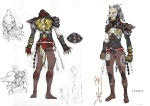 Kunimitsu Alternate Costume Concept - Tekken Tag Tournament 2 Concept art