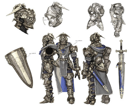 Character Design Artist Resource : The last story concept art