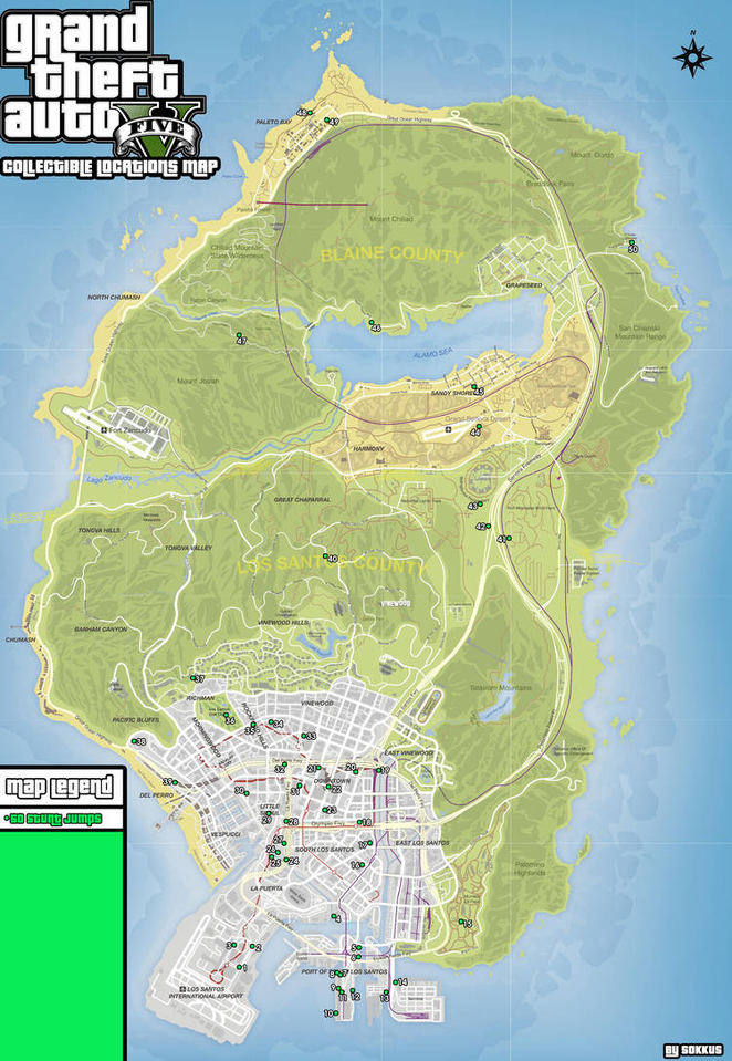 collectible locations guide - grand theft auto v walkthrough - neoseeker