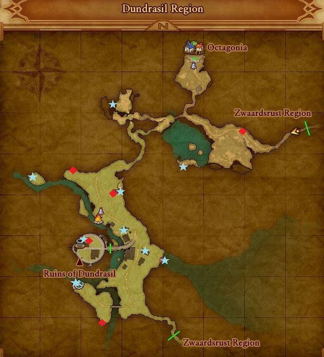 Zwaardsrust and Dundrasil Regions - Dragon Quest XI: Echoes