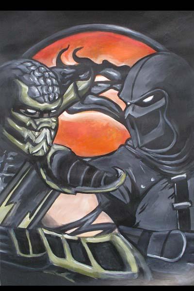 Scorpion and Noob Saibot Mortal Kombat