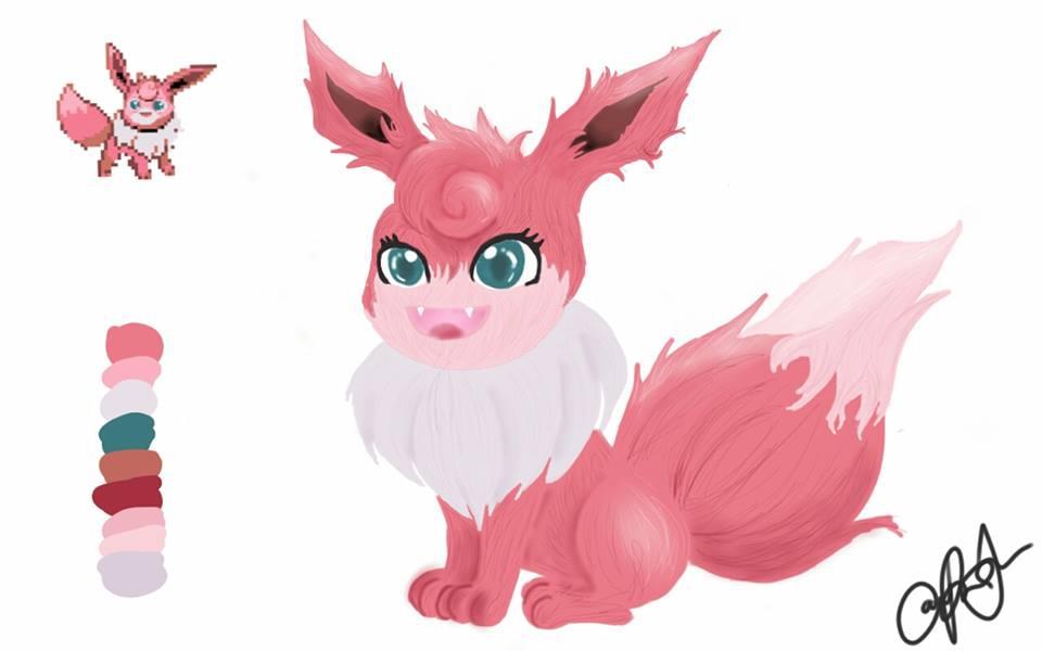 PokeFusion Art (Eevee + Wigglytuff)